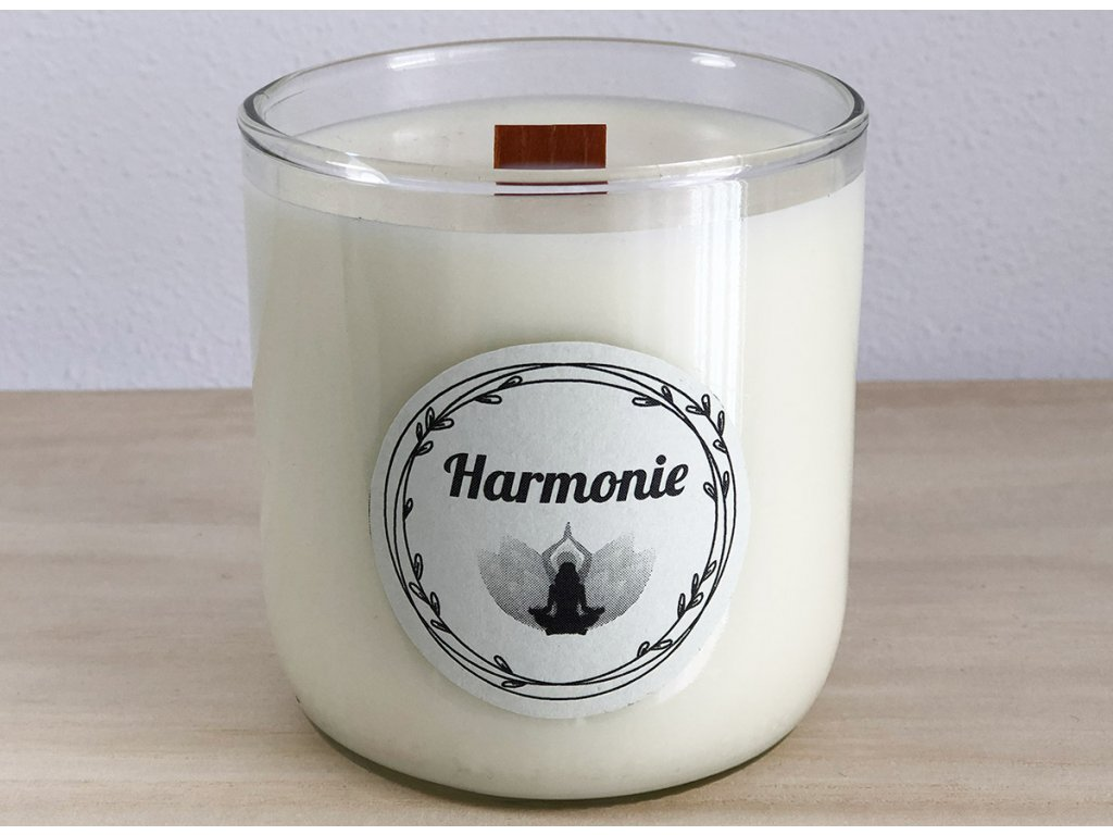 Vonná sójová svíčka Harmonie pro pohodu a relaxaci 240 ml