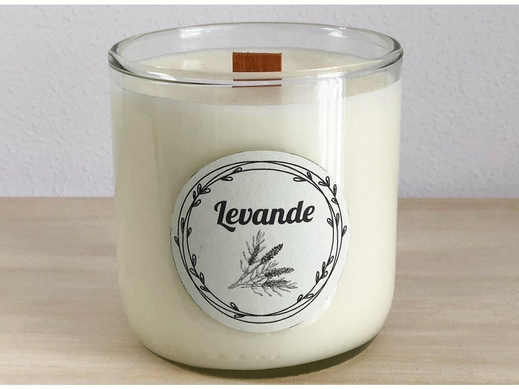 Dekorační vonná svíčka Levande s vůní levandule