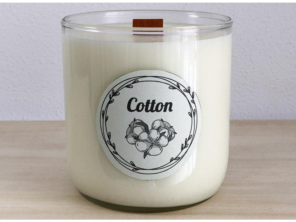 Vonná sójová svíčka Cotton 240 ml