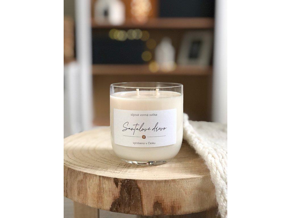 Luxusní vonná svíčka vůně Santalové dřevo 330 ml