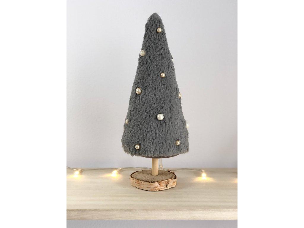 Dekorace šedý vánoční stromeček