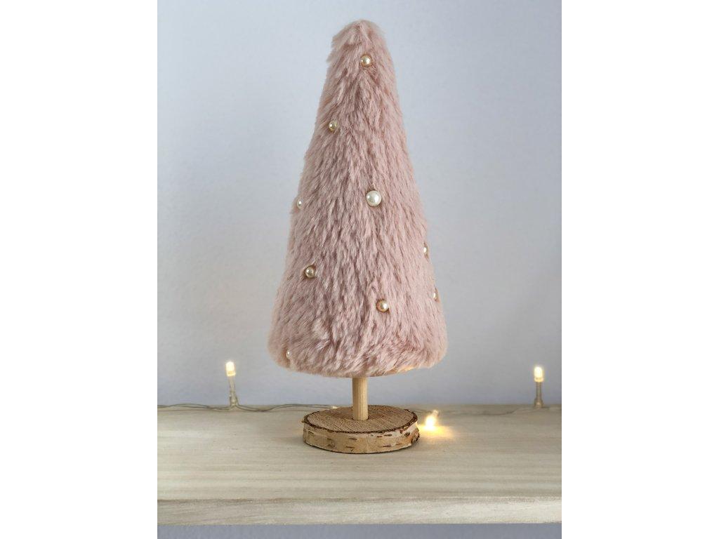 Dekorace růžový vánoční stromeček