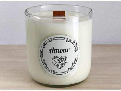 Vonná sójová svíčka Amour 240 ml