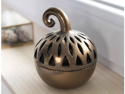 Keramická lucerna na svíčku Zlatá dýně