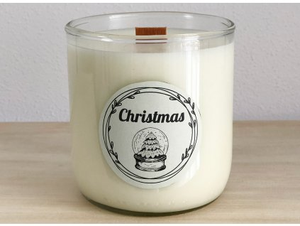 Vonná sójová svíčka Christmas pro vánoční atmosféru 240 ml