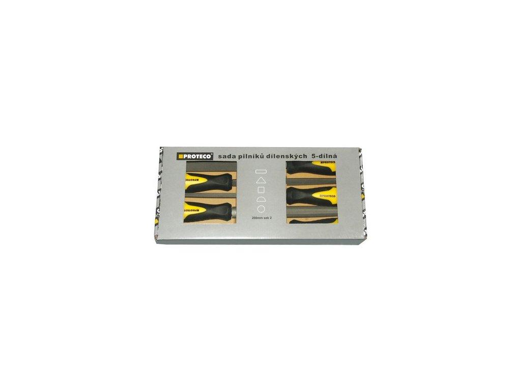 Sada pilníků 5-dílná 200mm v krabici