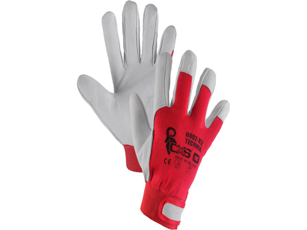 Pracovní rukavice z kozí kůže a pružné bavlny 7 -