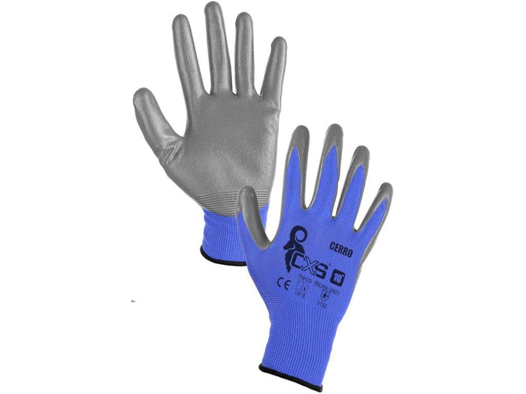Kvalitní pracovní rukavice CERRO povrstvené hladký