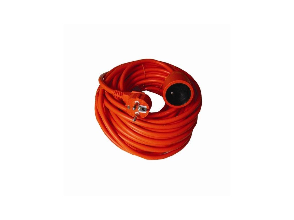 Prodlužovací kabel 20m 3x1mm2, 230V/6A - oranžový