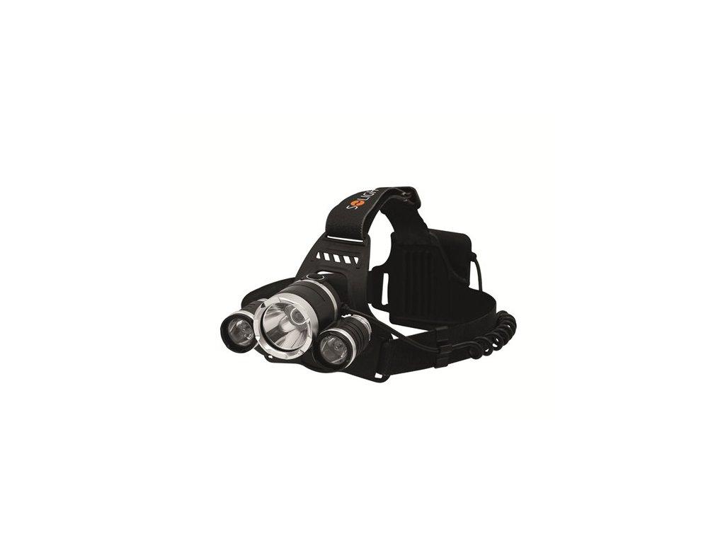 Solight LED čelová svítilna SUPER POWER, 900lm, 3x Cree LED, 4x…