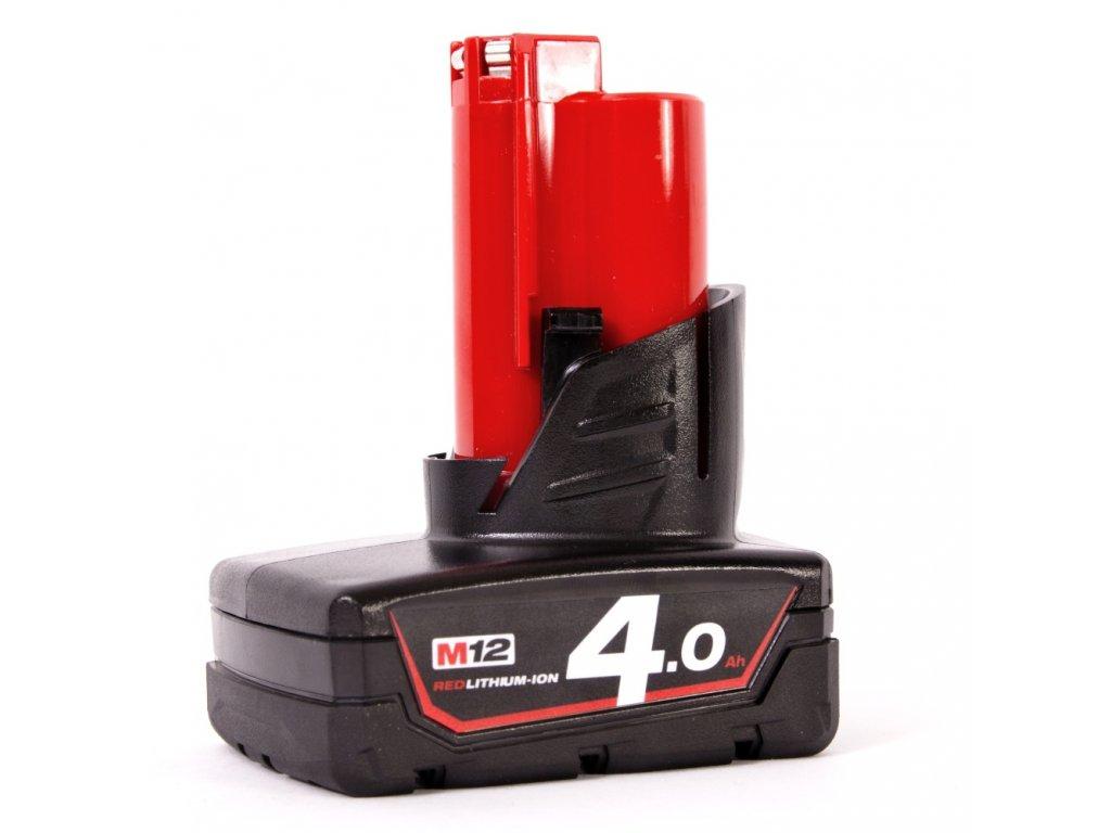 MILWAUKEE Baterie M12 B4 - 12 V / 4,0 Ah - Li-Ion