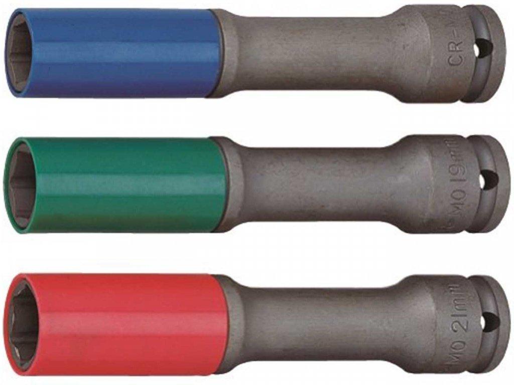 Nástrčné hlavice na matice kol pro rázové utahováky 17 21mm JONNESWAY