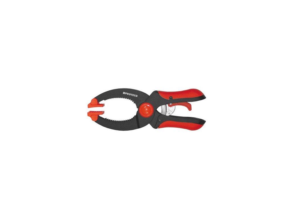 Ráčnová svěrka PROTECO s paralelními čelistmi | 130 až 230mm