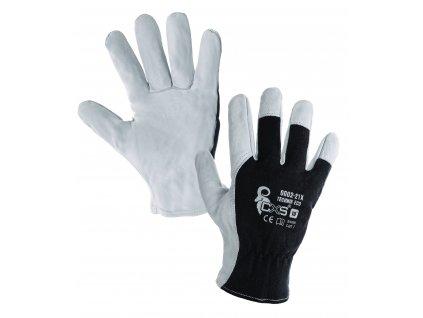 Kvalitní pracovní rukavice TECHNIK LITE z kozí kůž