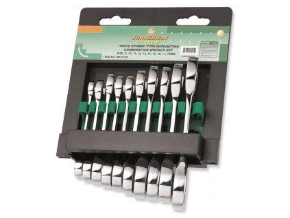 Sada kvalitních krátkých, očkoplochých klíčů s ráč