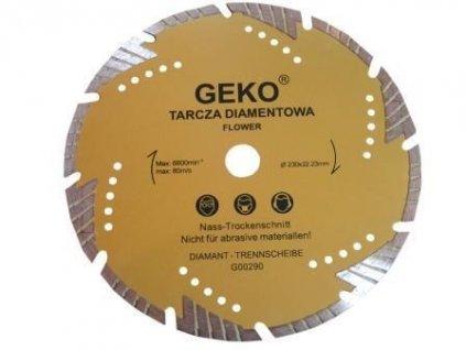 Diamantový řezný kotouč, 230x22mm, GEKO