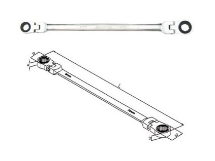 Kvalitní ráčnový klíč, kloubový JONNESWAY - W76
