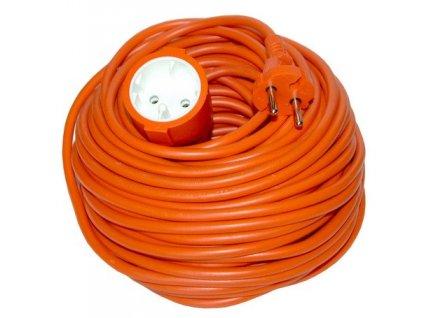 Prodlužovací kabel 20m 2x1mm2 - oranžový