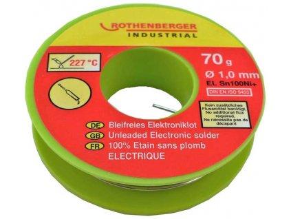 Rothenberger - bezolovnatá elektronická pájka 30g
