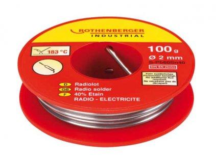 Rothenberger - rádiový pájkový drát 100g, 2mm