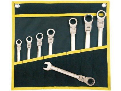 sada klíčů ráčnových s kloubem   8 dílná v obalu