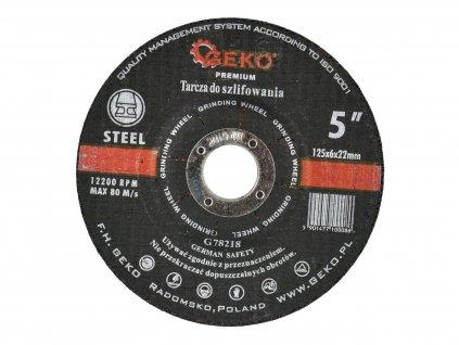 Kotouč brusný na kov, 125x6mm, GEKO PREMIUM