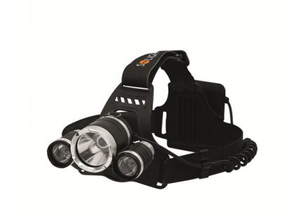 Solight LED čelová svítilna SUPER POWER, 900lm, 3x Cree LED, 4x…