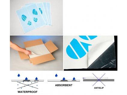 Ochranné koberečky SR Paperplast 38 x 50 cm