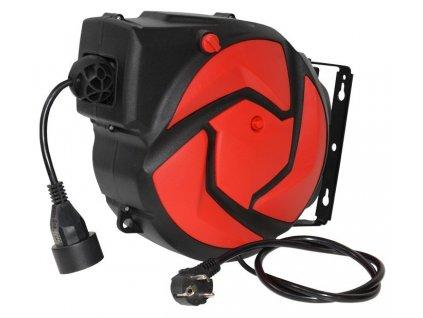 Automatický naviják s elektrickým kabelem 14 m a 1 zásuvkou C-14-1CZ