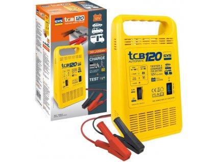 Nabíječka a zkoušečka baterií GYS TCB 120 automatic