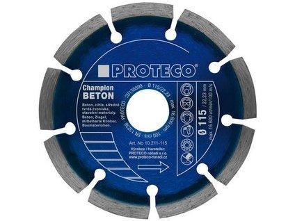 kotouč dia 115 mm segment BETON CHAMPION beton, cihla, stav.mat.