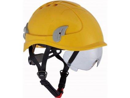 ALPINWORKER přilba WR ventilovaná - žlutá