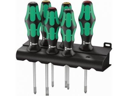 WERA - šroubováky tříkomponentní - sada, zelenočerné (6 ks),…