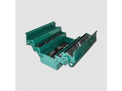 Montážní basa na nářadí kovová vybavená 460x210mm 68 dílů