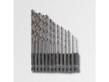 Vrtáky HSS univerzální, šestihranný úchyt 13ks/sa (1,5-6,5mm)