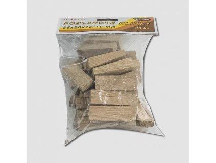 Klínky podlahové 55x20x15-10 balení 33ks