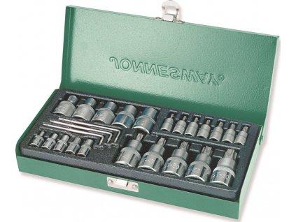 Sada nástrčných hlavic a klíčů Torx