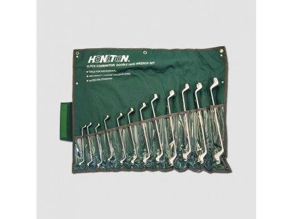 Sada klíčů očkových vyhnutých 12dílů 6-32 mm matný