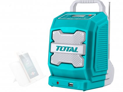 TOTAL rádio AKU, 20V Li-ion, 2000mAh, industrial