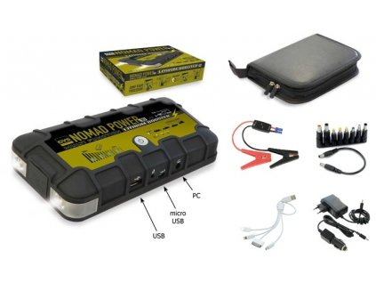 Kompaktní startovací a nabíjecí zdroj s lampou GYS NOMAD POWER 10