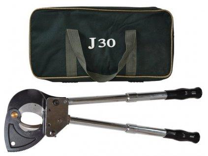 Ráčnové nůžky na stříhání kabelů HCC-30J