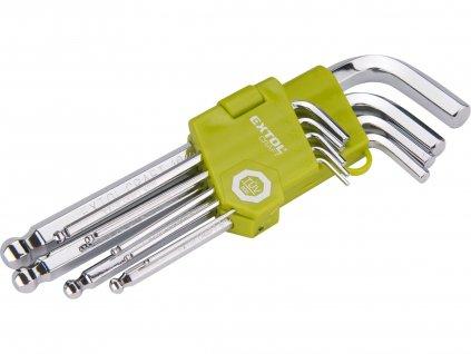 EXTOL CRAFT L-klíče IMBUS, sada 9ks, 1,5-10mm