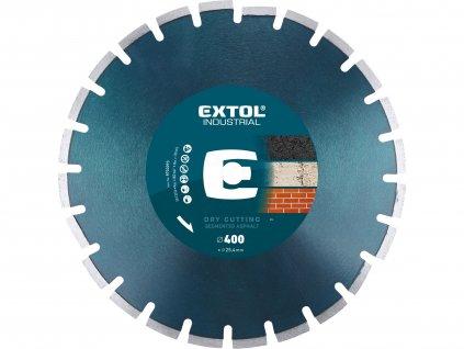 EXTOL INDUSTRIAL kotouč diamantový řezný segmentový na ASFALT, suché řezání, O 400x25,4x3,5mm