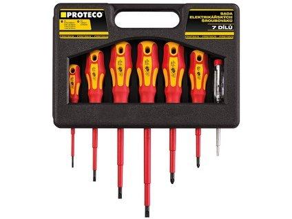 Sada šroubováků elektrikářských 7-dílná v kufru