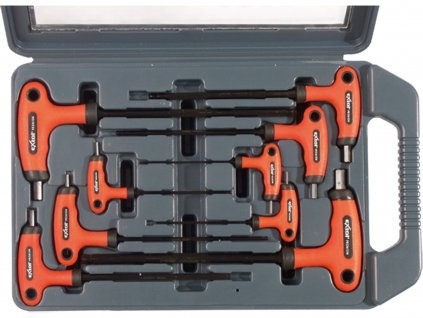 EXTOL PREMIUM T-klíče IMBUS, sada 9ks, H2-10mm