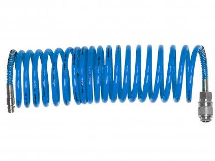 """EXTOL CRAFT hadice vzduchová spirálová s rychlospojkami, 1/4"""", vnitřní ⌀6mm, L 10m"""