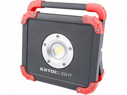 EXTOL LIGHT reflektor LED nabíjecí s powerbankou, 2000lm