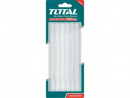 TOTAL Tyčinky tavné transparentní, 6ks, průměr 11,2mm, délka 20cm