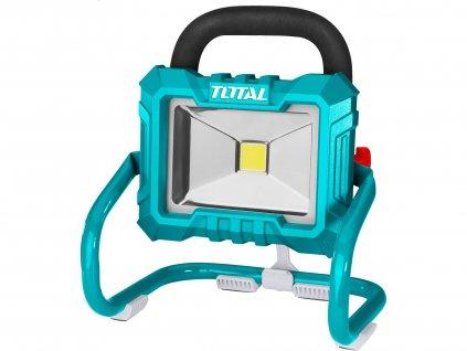 TOTAL světlo pracovní přenosné s podstavcem, 20V Li-ion, 2000mAh, LED, 20W, bez baterie a nabíječky