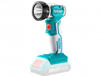 TOTAL světlo pracovní závěsné, 20V Li-ion, 2000mAh, LED, 3.2W, bez baterie a nabíječky